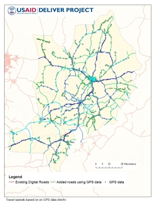 Figure 2. Road Network Map with Incorporation of GPS Data